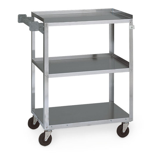Vollrath® Stainless Food Service Cart - 27-1/2 in. L x 15-1/2 in. D x 32-5/8 in. H