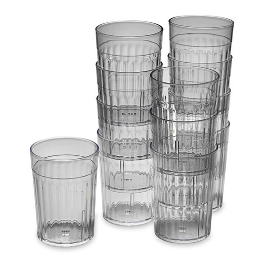 10-oz. Crystal Clear Plastic Tumblers