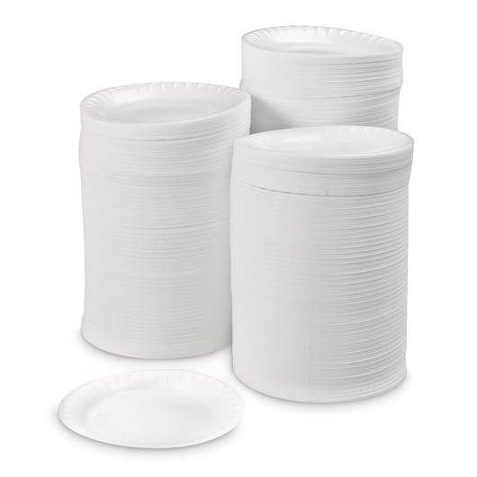 White 9 in. Styrofoam® Disposable Plates