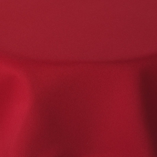 72 in. Red Round Tablecloth