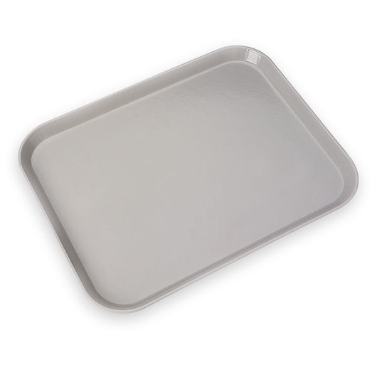 Carlisle-Glasteel Monochrome, Steel Reinforced Fiberglass Tray - Smoke Gray
