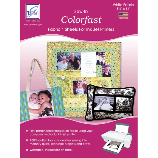Washable Colorfast Printer Fabric™ Sheets