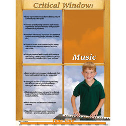 Brain Development of Young Children - Music Poster