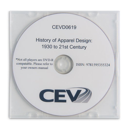 History of Apparel Design: 1930 to the 21st Century DVD