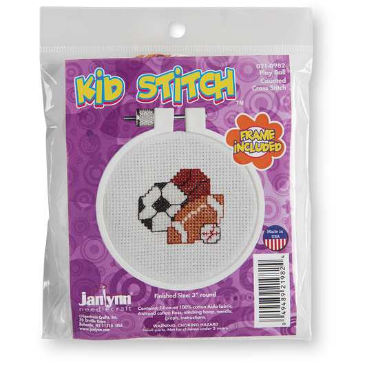 Counted Cross Stitch Kit - Play Ball