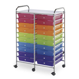 Alvin® Blue Hills Studio™ Double-Wide Storage Cart