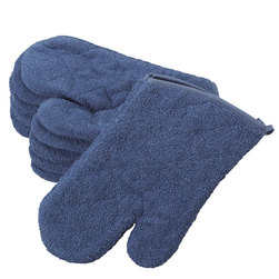 Terry Oven Mitts - Sage