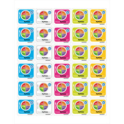 MyPlate 1-1/2 in. x 1-1/2 in. Stickers - Pkg. of 25 Sheets - 30 Stickers/Sheet - 750 Stickers Total