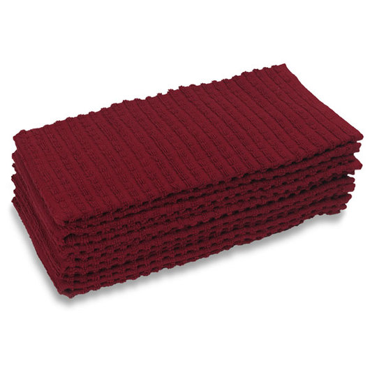 Ritz® Royale Kitchen Towels - 18 in. x 28 in. - Pack of 6 - Red
