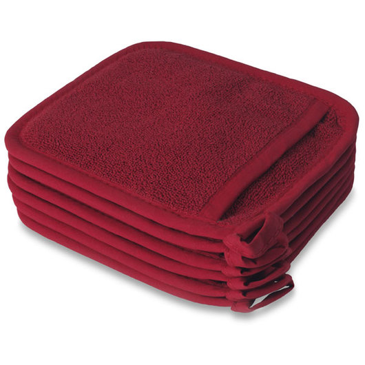 Ritz® Royale Pocket Mitt - 7-3/4 in. x 8-1/2 in. - Pack of 6 - Red