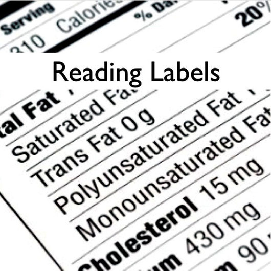 Lesson Manuals with PowerPoint® - Nutrition - Reading Labels