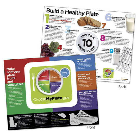 USDA MyPlate Tablet - English - 8-1/2 in. x 11 in. - 50 Sheets