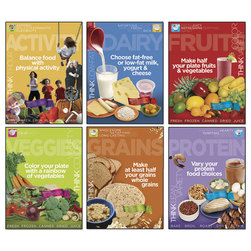 MyPlate Food Group Poster - 18 in. x 24 in. Each - Set of 6