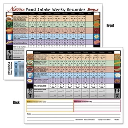 Nasco Food Intake Weekly Recorder TearPad™ - 8-1/2 in. x 11 in. - 50 Sheets