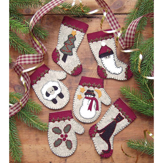 Ornament Sewing Kit - Winter Woolens