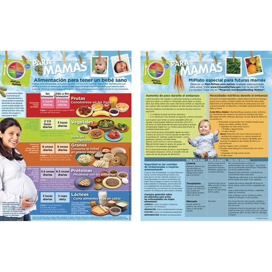 MyPlate for Expecting Moms Tablet - Spanish - 8-1/2 in. x 11 in. - 50 Sheets