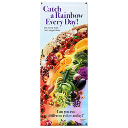 Healthy Vinyl Banner, Catch a Rainbow