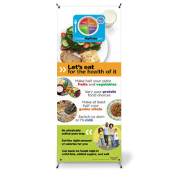 Healthy Vinyl Banner with Stand - MyPlate