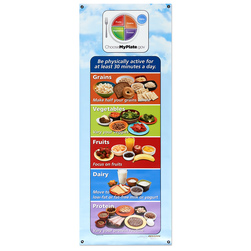 Healthy Vinyl Banner, MyPlate Portions
