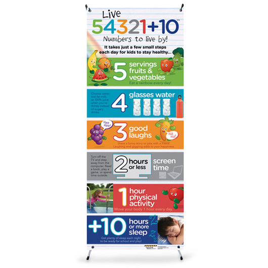 Live 54321+10® Vinyl Banner with Stand
