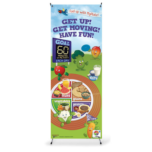 Active Kids MyPlate Vinyl Banner with Stand