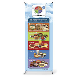 Healthy Vinyl Banner with Stand - MyPlate Portions