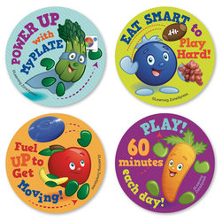 Active Kids MyPlate Stickers