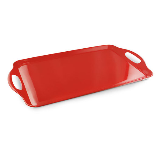 Colored Melamine Serviceware - Rectangular Serving Tray - Red