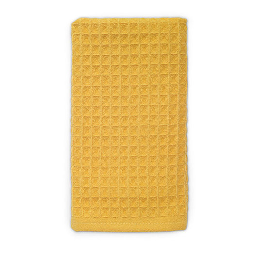 Microfiber Waffle Kitchen Towels - Yellow