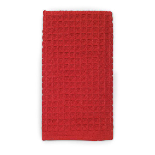 Microfiber Waffle Kitchen Towels - Red