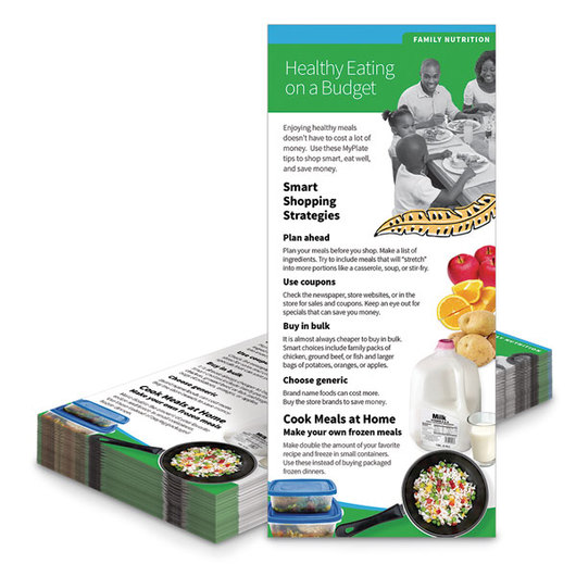 Healthy Eating on a Budget Education Cards - Pack of 100