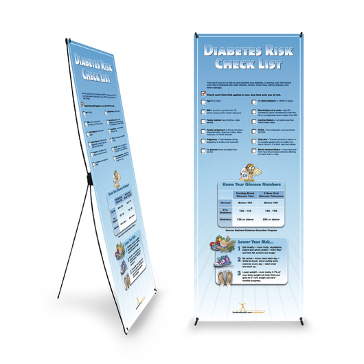 Diabetes Risk Banner and Stand