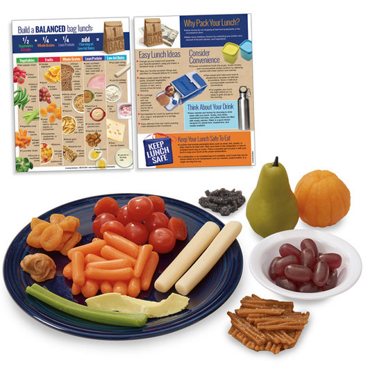 Nasco Back-to-School Lunch Food Replica Kit