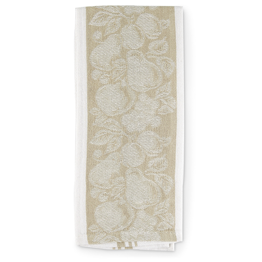 Jacquard Kitchen Towels - Pkg. of 6 - Tan