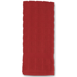 Solid Windowpane Terry Kitchen Towels - 16 in. x 26 in. - Pack of 6 - Red