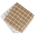 Windowpane Terry Dishcloths - 12 in. x 12 in. - Pack of 12 - Tan