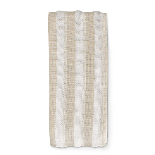Workman's Striped Kitchen Towels - Pkg. of 6 - Tan