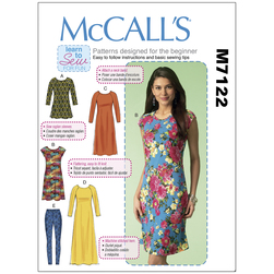 McCall's Patterns - Dresses, Tunics and Leggings - Sizes X-Small to Medium