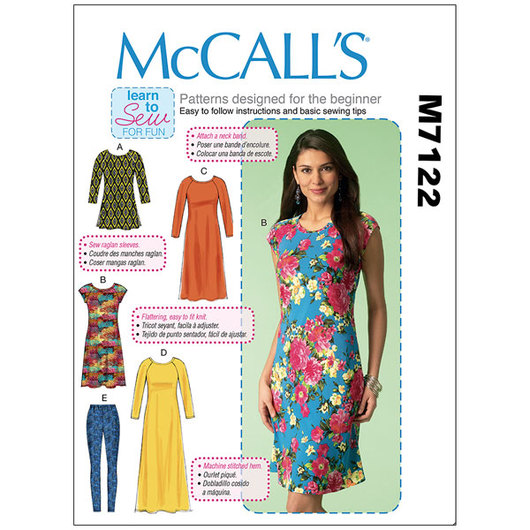 McCall's Patterns - Dresses, Tunics and Leggings - Sizes Large to XX-Large