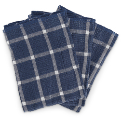 Woven Plaid Dishcloths - Pkg. of 3 - Red