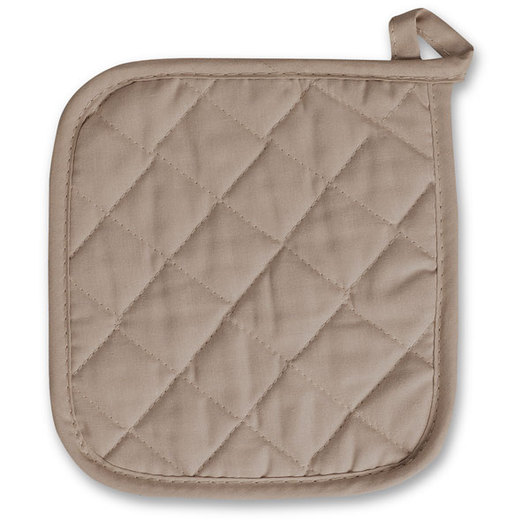 Quilted Potholders - Pkg. of 12 - Taupe
