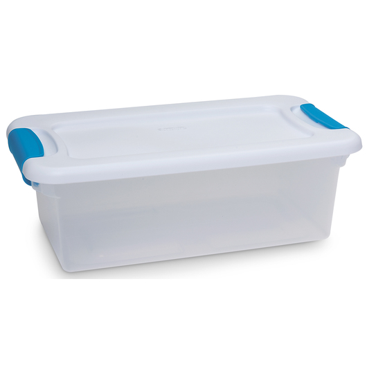 Latch Box Clear Storage Container - 6 Quart - 14-1/8 in. x 7-5/8 in. x 4-7/8 in.