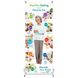 Healthy Eating from Head to Toe, Older Adults,  Vinyl Banner with Stand