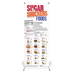 Sugar Shockers Vinyl Banner with Stand - 24 in. x 63 in.