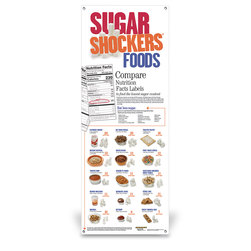 Sugar Shockers Vinyl Banner without Stand - 24 in. x 63 in.