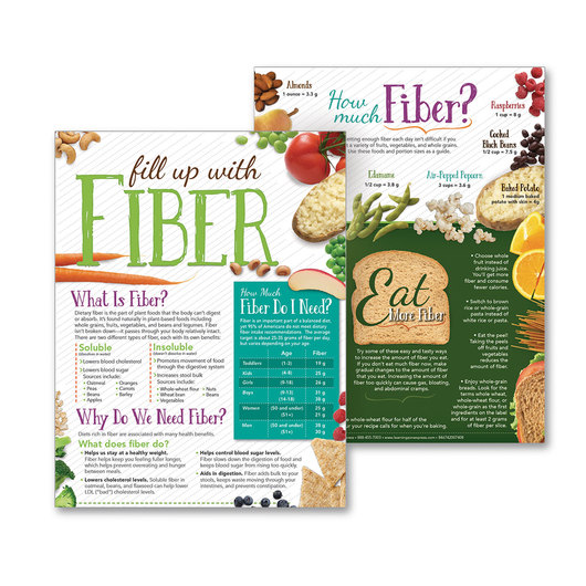Fill Up with Fiber Tablet - 8-1/2 x 11