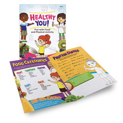 Eating Healthy Activity Books - Healthy You! - Package of 12