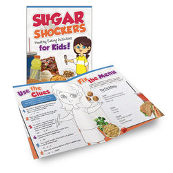 Eating Healthy Activity Books - 8-1/2 in. x 11 in. - Sugar Shockers Activity Books - Package of 12