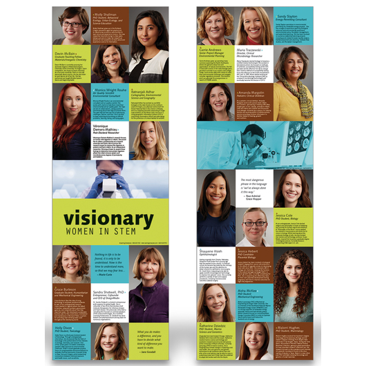 Visionary Women in STEM Posters - 11-1/2 in. x 35 in. - Set of 2