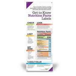 Get to Know Nutrition Facts Labels - Vinyl Banner without Stand - 24 in. x 63 in.